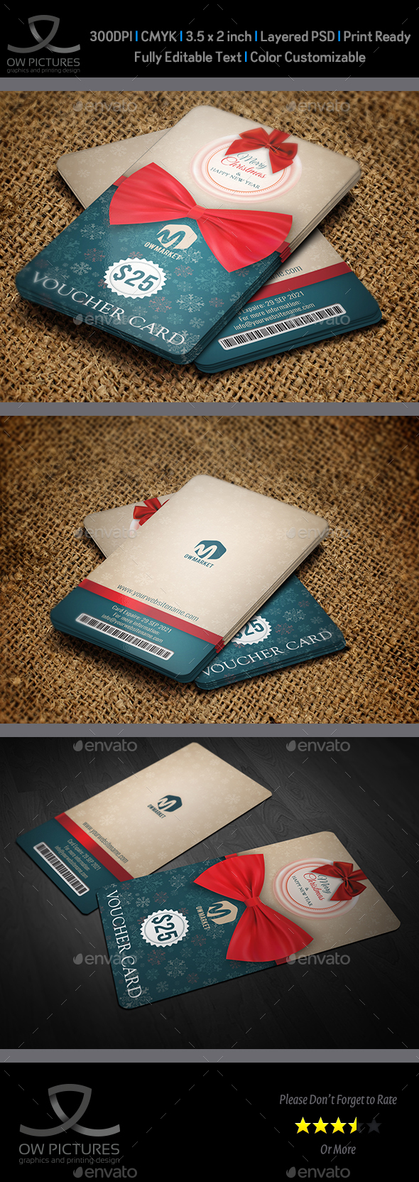GraphicRiver Gift Voucher Card Template Vol.26 21010297