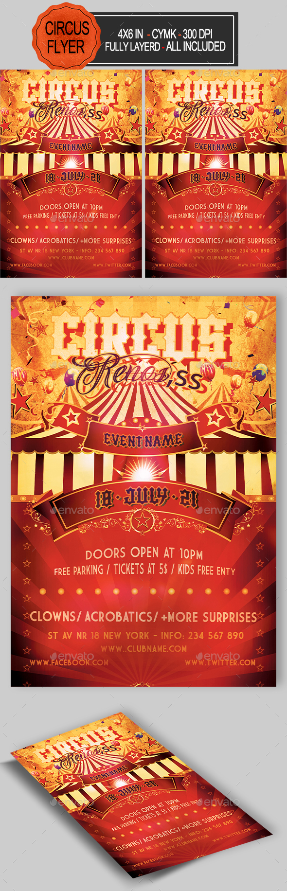 GraphicRiver Circus Flyer 21010333