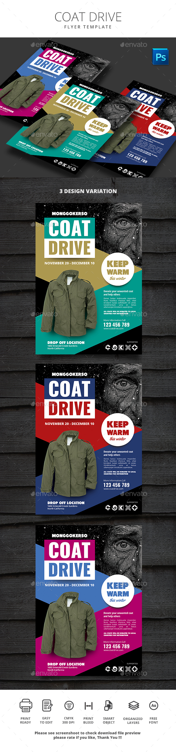 GraphicRiver Coat Drive 21010357