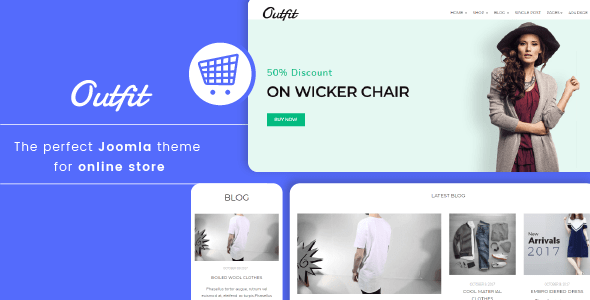 Outfit - Minimalist Responsive eCommerce Joomla template - Shopping Retail