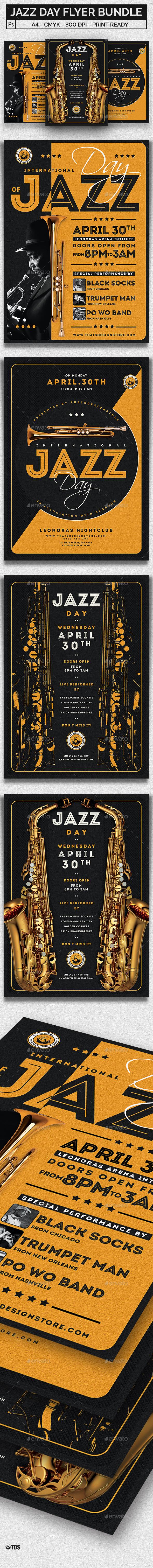 Jazz Day Flyer Bundle - Concerts Events