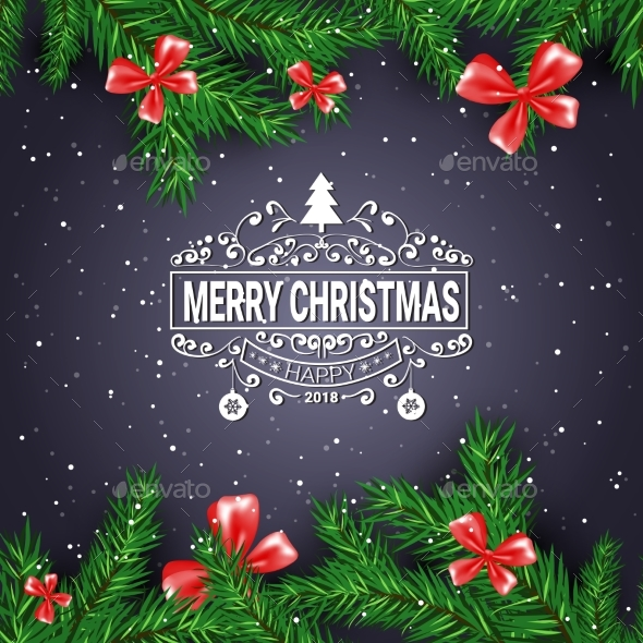GraphicRiver Black Christmas Background 21010443