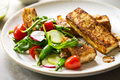 Tofu steak with Snow Peas and Rocket Salad - PhotoDune Item for Sale