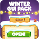 Wooden Winter Game Interface 2018 - GraphicRiver Item for Sale