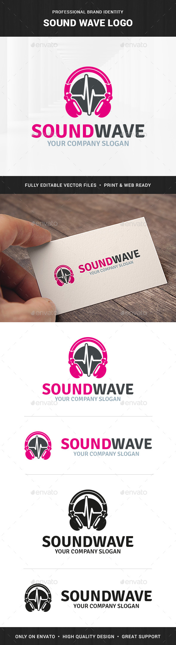 Sound Wave Logo Template - Objects Logo Templates