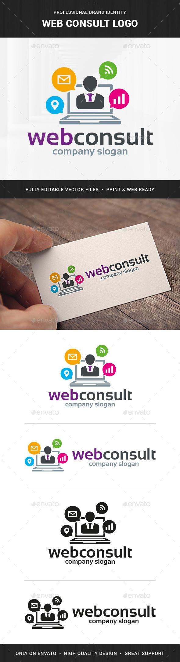 Web Consult Logo Template - Symbols Logo Templates