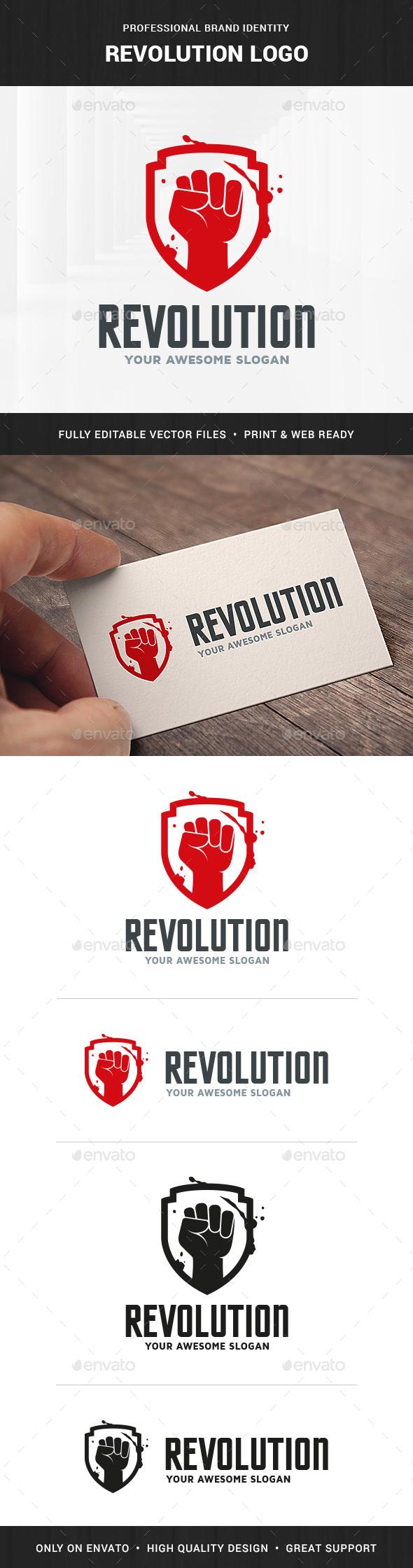 Revolution Logo Template - Crests Logo Templates