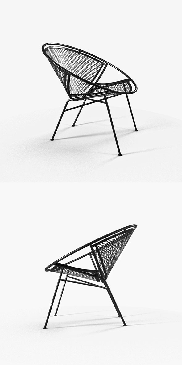 garden chair from metal grill - 3DOcean Item for Sale