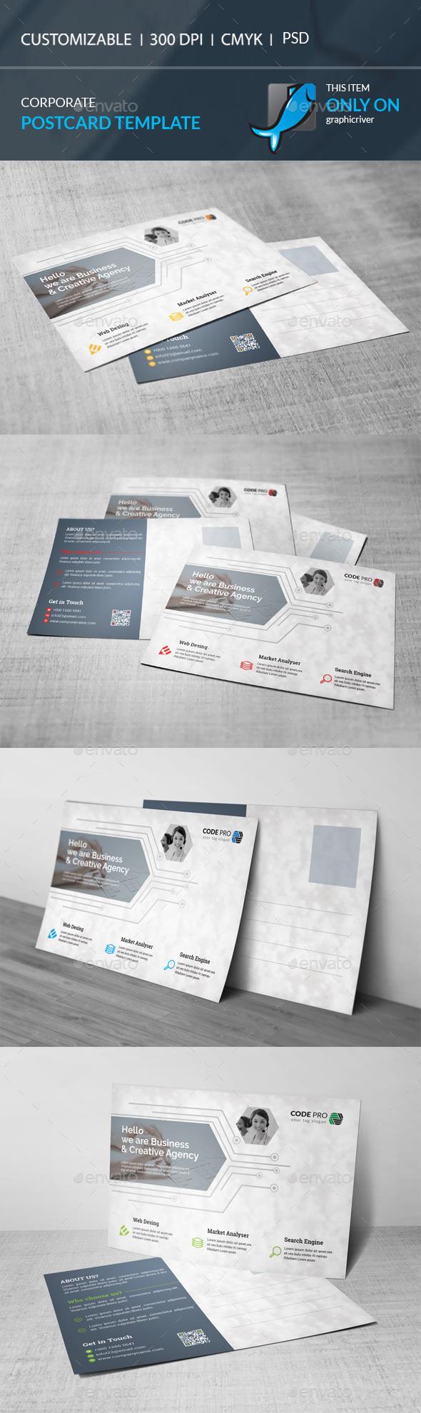 Postcard Template - Corporate Flyers