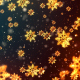 Christmas Golden Snowflakes - VideoHive Item for Sale