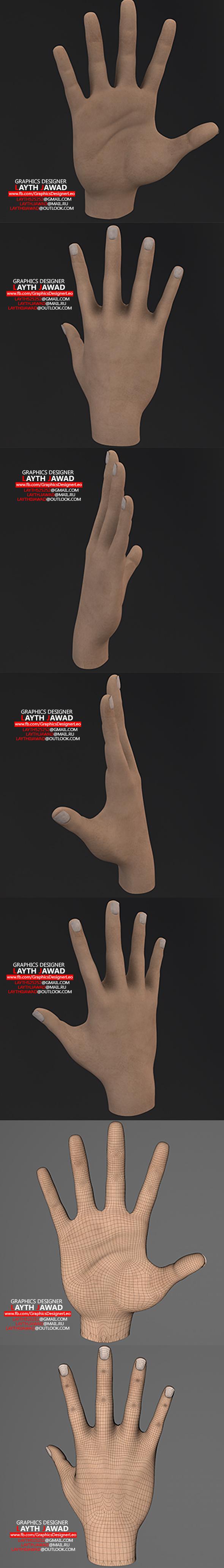 3DOcean hand 3D model 21011324