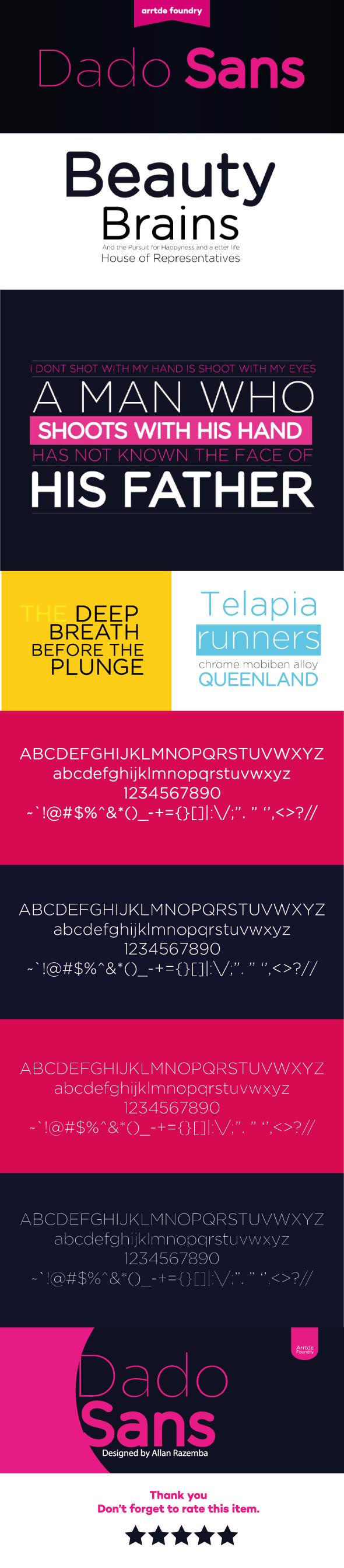 Dado Sans Typeface - Sans-Serif Fonts