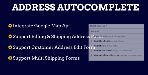 Magento 2 Address Autocomplete