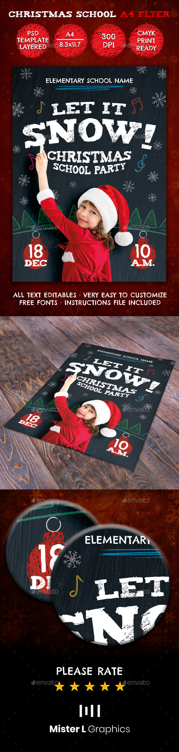 GraphicRiver Christmas Flyer 21011491