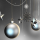 Silver Christmas Ornaments Backgrounds - VideoHive Item for Sale