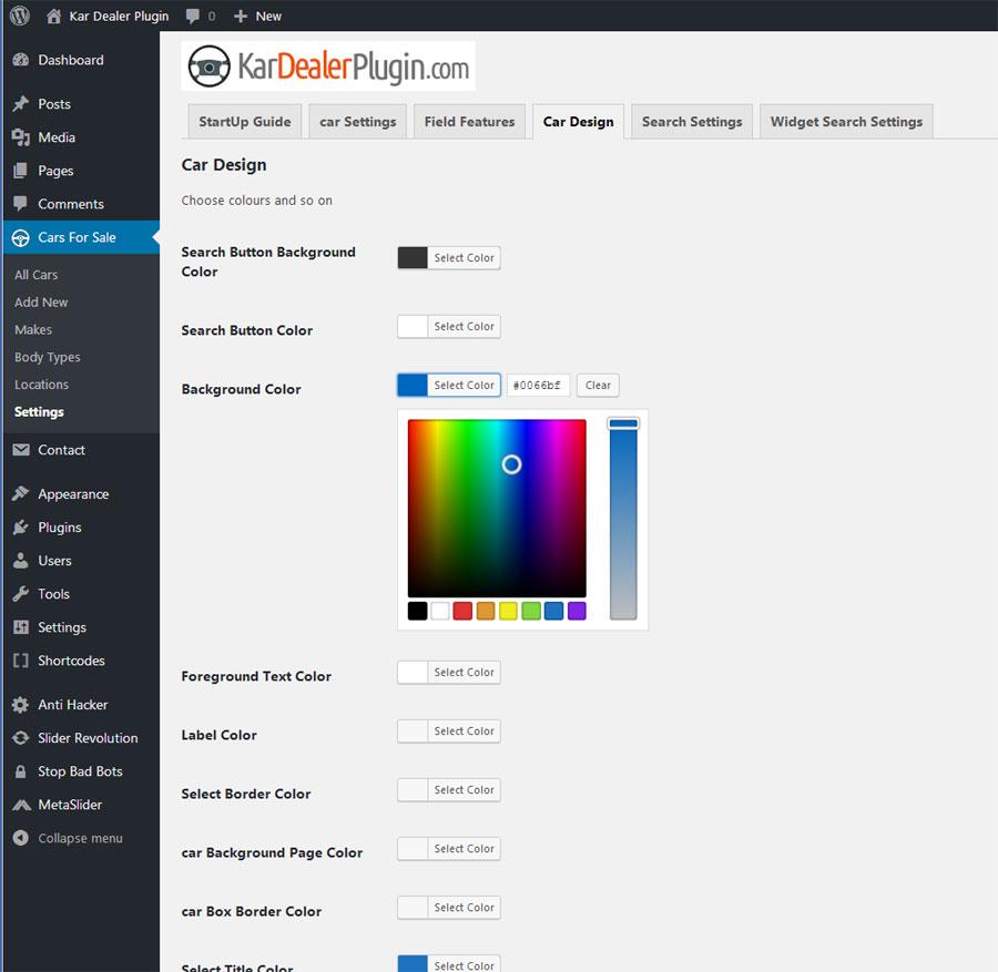 Kar Dealer - Car Dealer WordPress Plugin