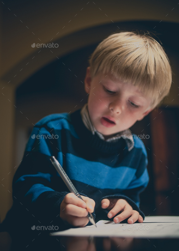 Writing a Letter - Stock Photo - Images
