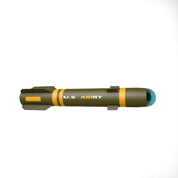 3DOcean Helfire missile 21011752