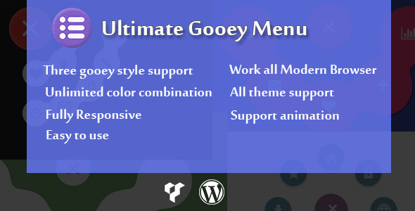CodeCanyon Visual Composer Ultimate Gooey Menu 21011788