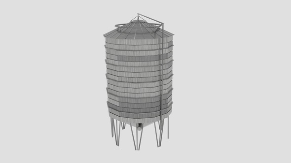 Sharman Farm Silo - 3DOcean Item for Sale