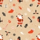 Merry Christmas Seamless Pattern with Santa Claus - GraphicRiver Item for Sale