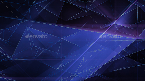 Cinematic Polygonal Refraction Backgrounds