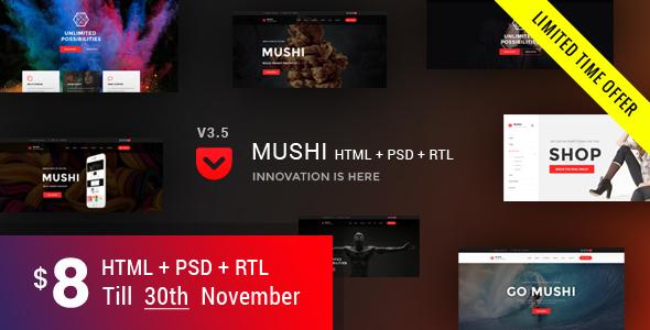 Mushi   Multipurpose HTML Template