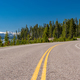 Highway by the lake in Yellowstone - PhotoDune Item for Sale