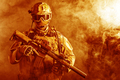 Special forces soldier in the fire - PhotoDune Item for Sale