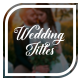 Wedding Titles - VideoHive Item for Sale