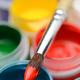 Gouache paint jars and paintbrush - PhotoDune Item for Sale