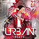 Urban Beats Minimal Dj Party Flyer