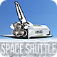 Space Shuttle over Clouds - VideoHive Item for Sale