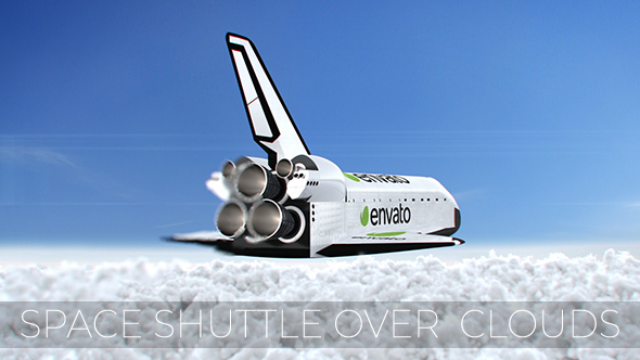 VideoHive Space Shuttle over Clouds 20968325