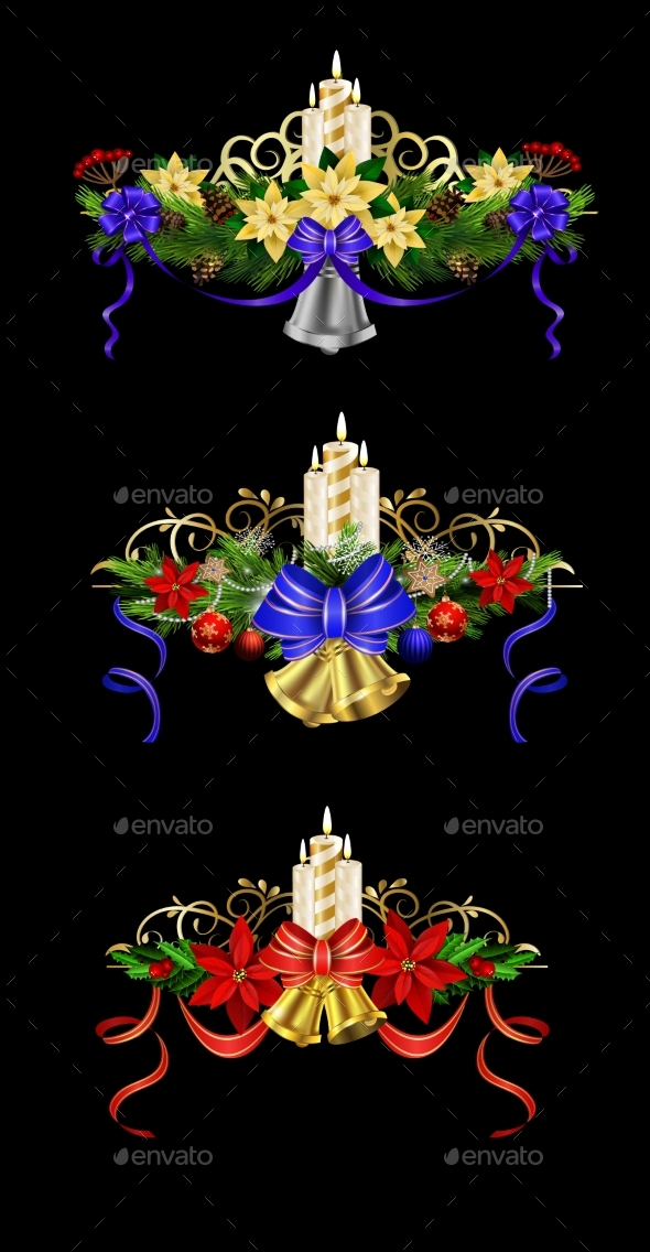 GraphicRiver Christmas Elements for Your Designs 21012626