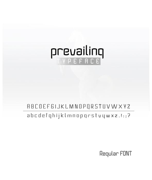 GraphicRiver Prevailing Font 21012682