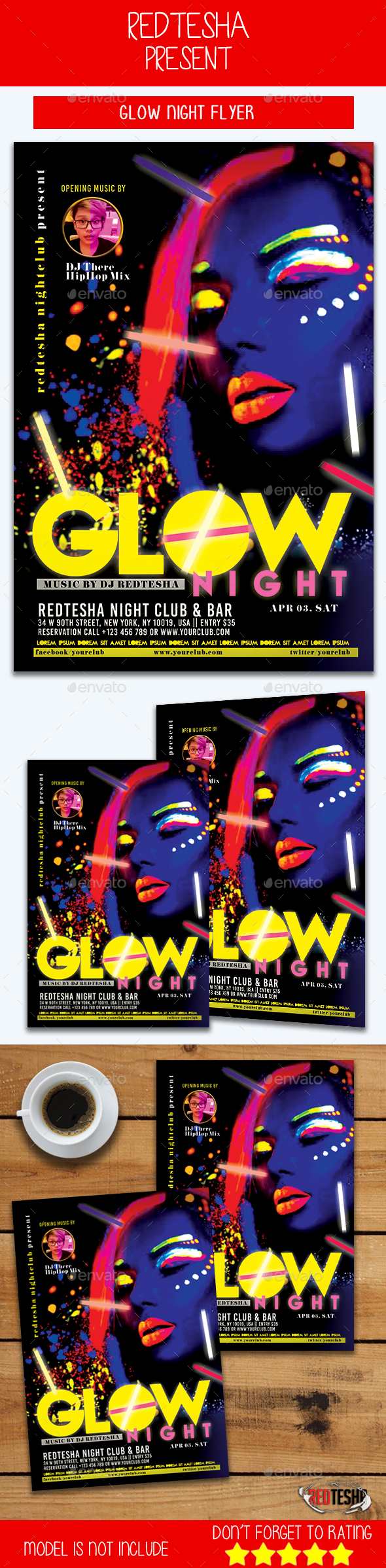 Glow Night Flyer - Events Flyers