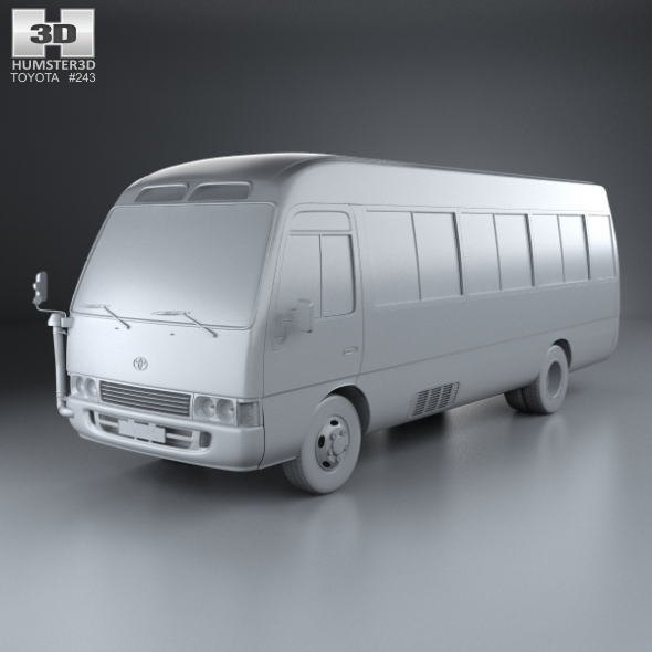toyota coaster with hq interior 2014 by humster3d