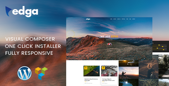 Edga - One Page Creative WordPress Theme