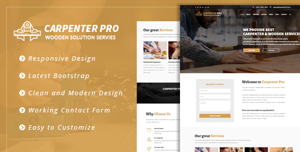 CarpenterPro - HTML for Carpenter & Craftsman - Corporate Site Templates