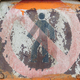 Faded and shabby sign of danger on a metal plate - PhotoDune Item for Sale