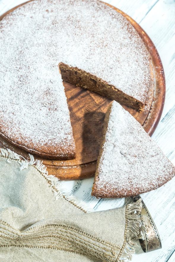 Amaretti pumpkin pie - Stock Photo - Images