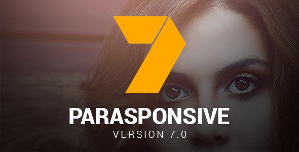 Parasponsive One-page WooCommerce WordPress Parallax - Corporate WordPress