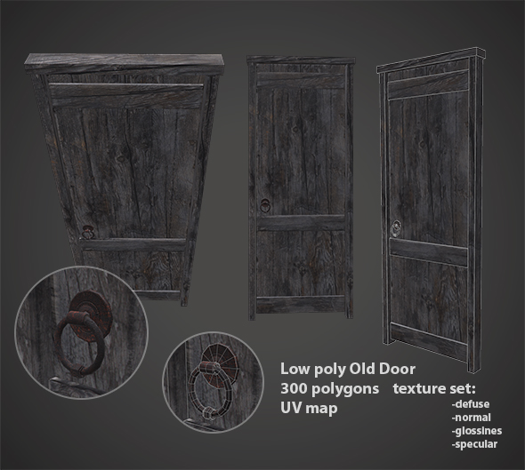 Old door - 3DOcean Item for Sale