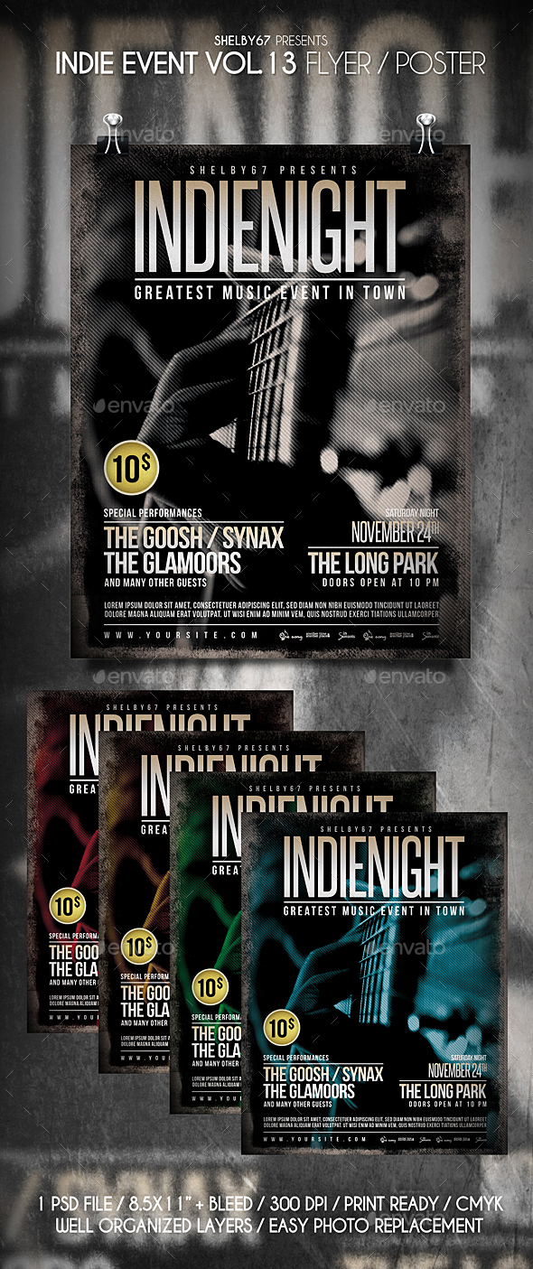 GraphicRiver Indie Event Flyer Vol 13 21013399