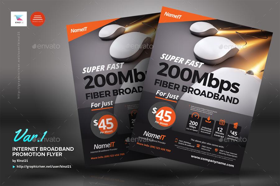 internet broadband promotion flyer templates by kinzi21
