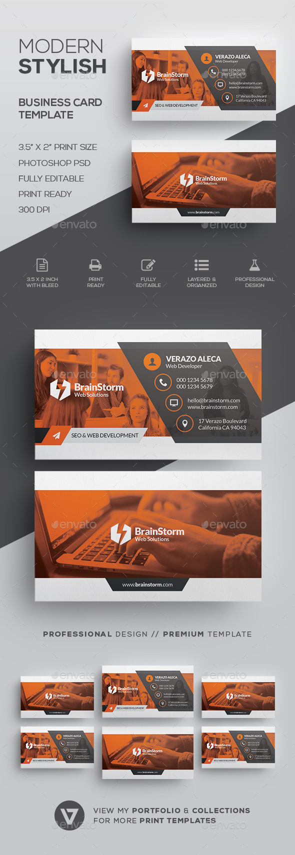 GraphicRiver Modern Corporate Business Card 21013476