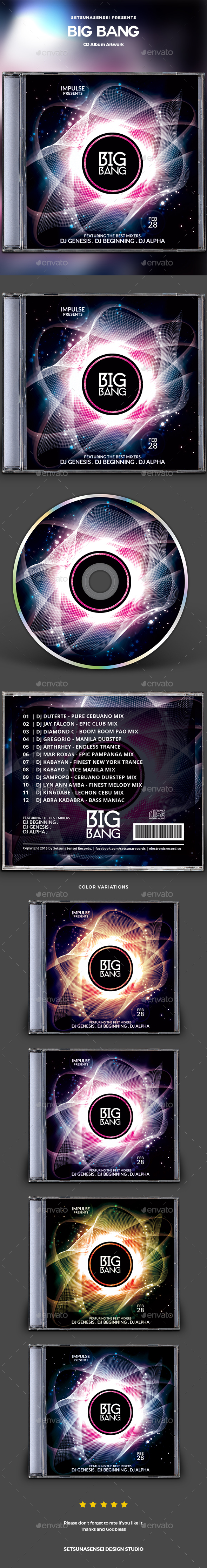 Big Bang CD Album Artwork - CD & DVD Artwork Print Templates