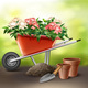 Wheelbarrow with Flowers - GraphicRiver Item for Sale