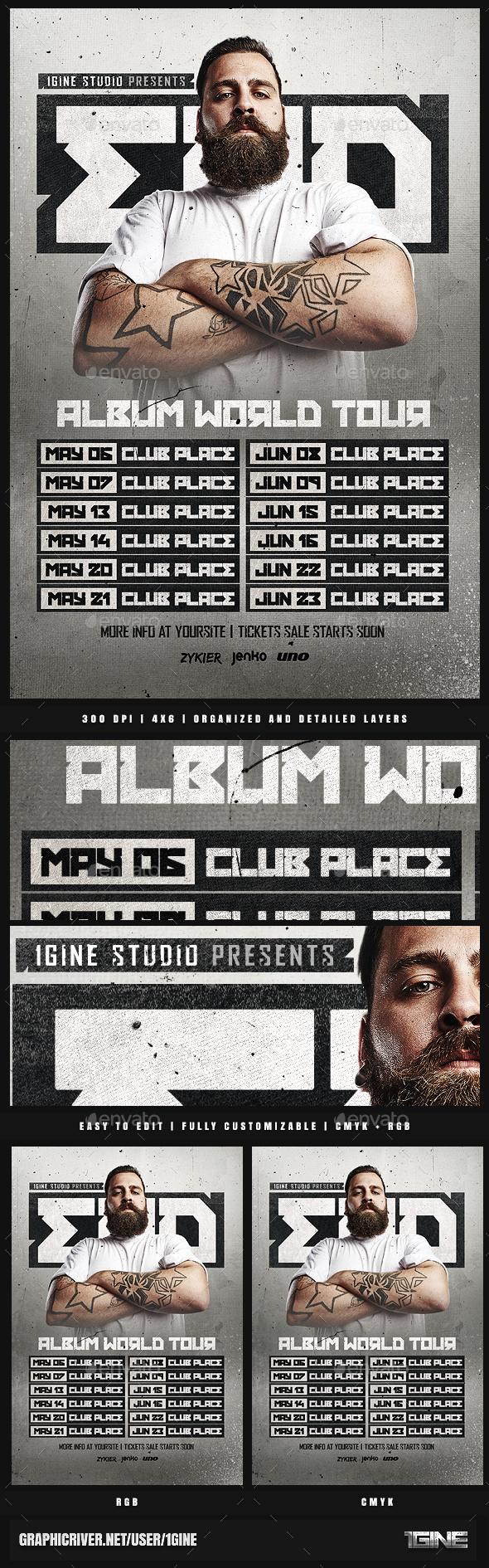 GraphicRiver DJ World Tour Dates Flyer Template 21013512